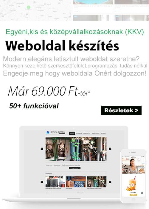 Weblap készítés ár - Weboldal készítés