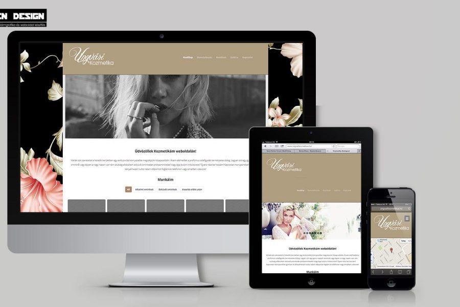 Kozmetikusoknak egyedi weboldal készítés