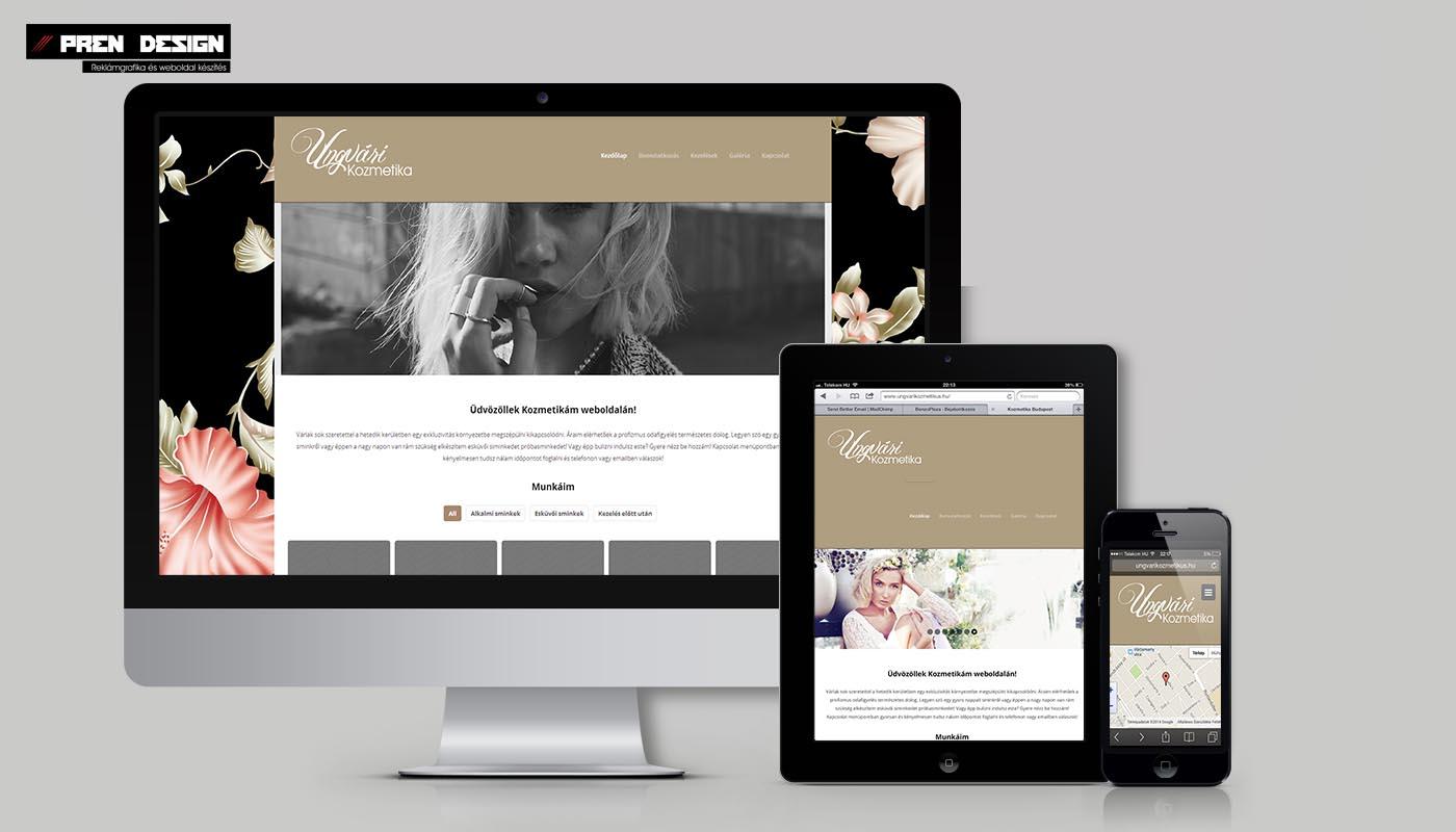 Kozmetikusoknak weboldal készítés