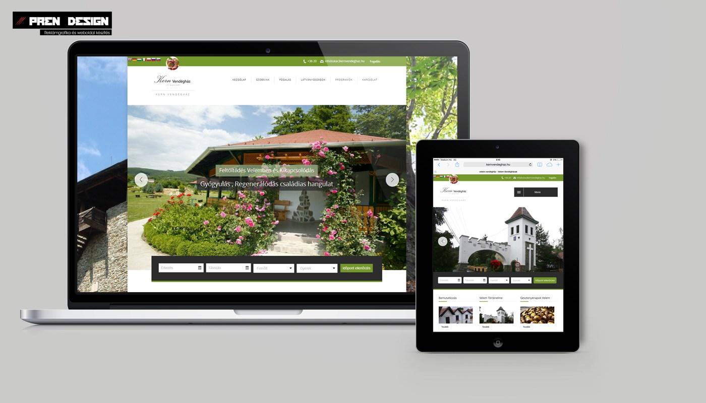Weboldal készítés Apartman és Vendégházaknak