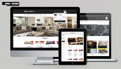Bútorbolt Webáruház készítés