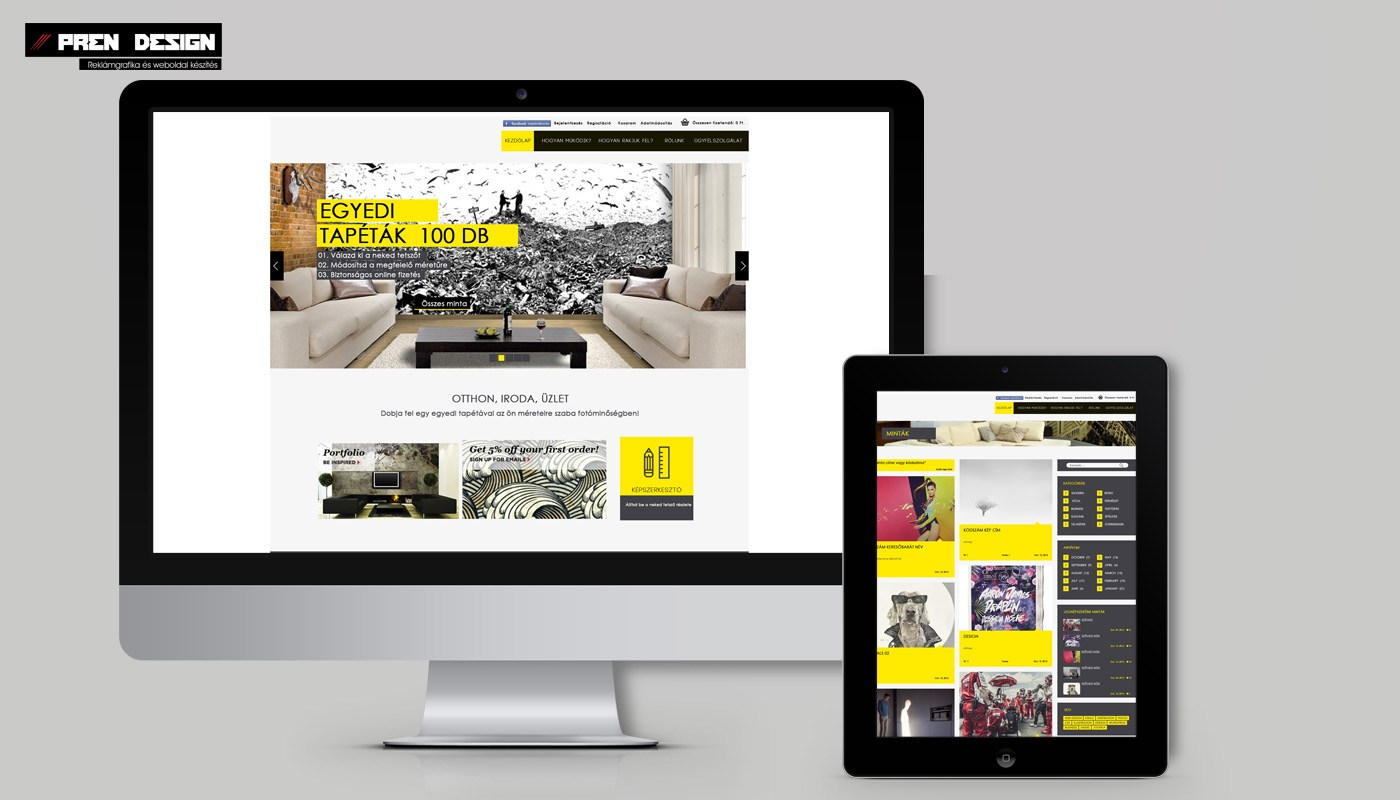 Egyedi webáruház készítés
