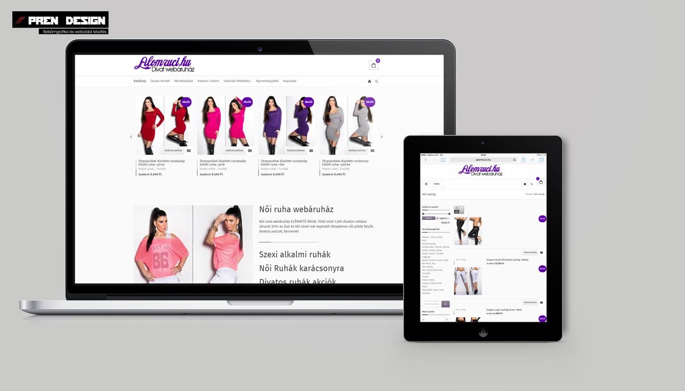 Női Ruha Webáruház készítés