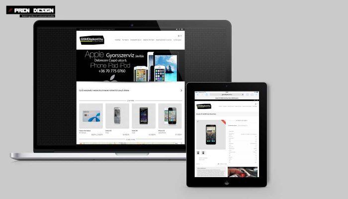 Mobiltelefon webshop készítés