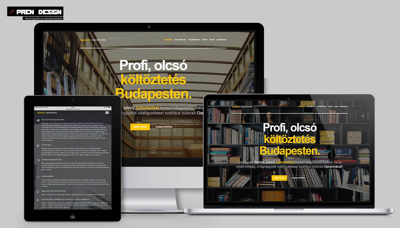 Céges weboldal készítés Budapest