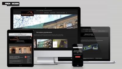 Cégbemutató weboldal egyedi webdesign készítés