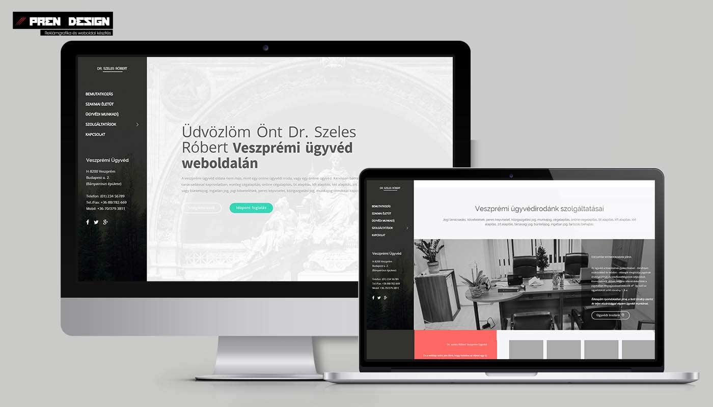 Weblap készítés ügyvédnek – Veszprém weboldal készítés