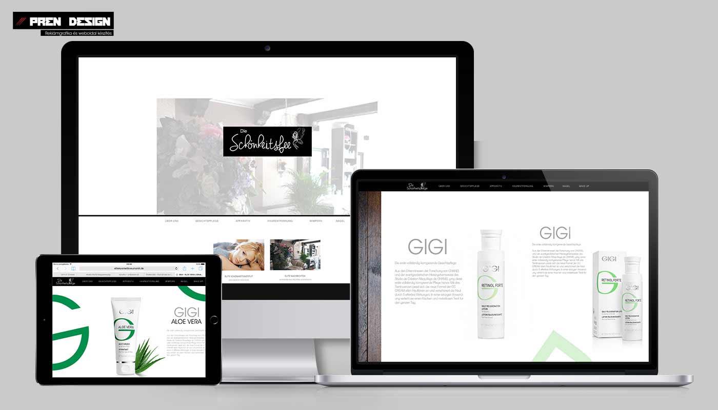 Weboldal készítés Kozmetikusoknak