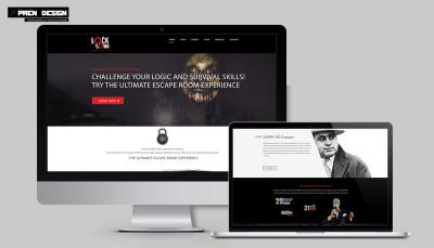 Szabadulószoba webdesign – Egyszerű céges holnap tervezés