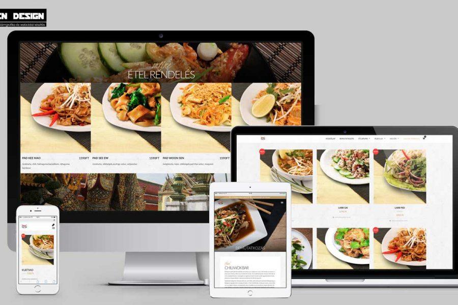 weboldal készítés étterem