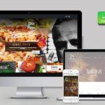 Pizzéria weboldal design - Weboldal készítés