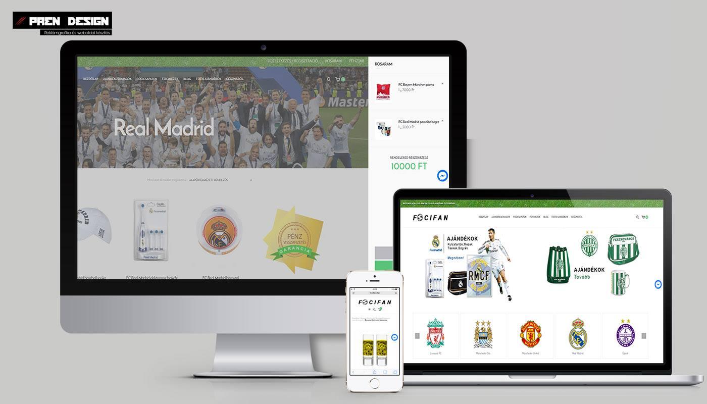 Webáruház készítés - Drukker sportáruház - focibolt