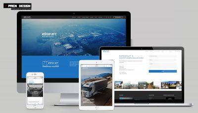 Fuvarozó cég weboldal