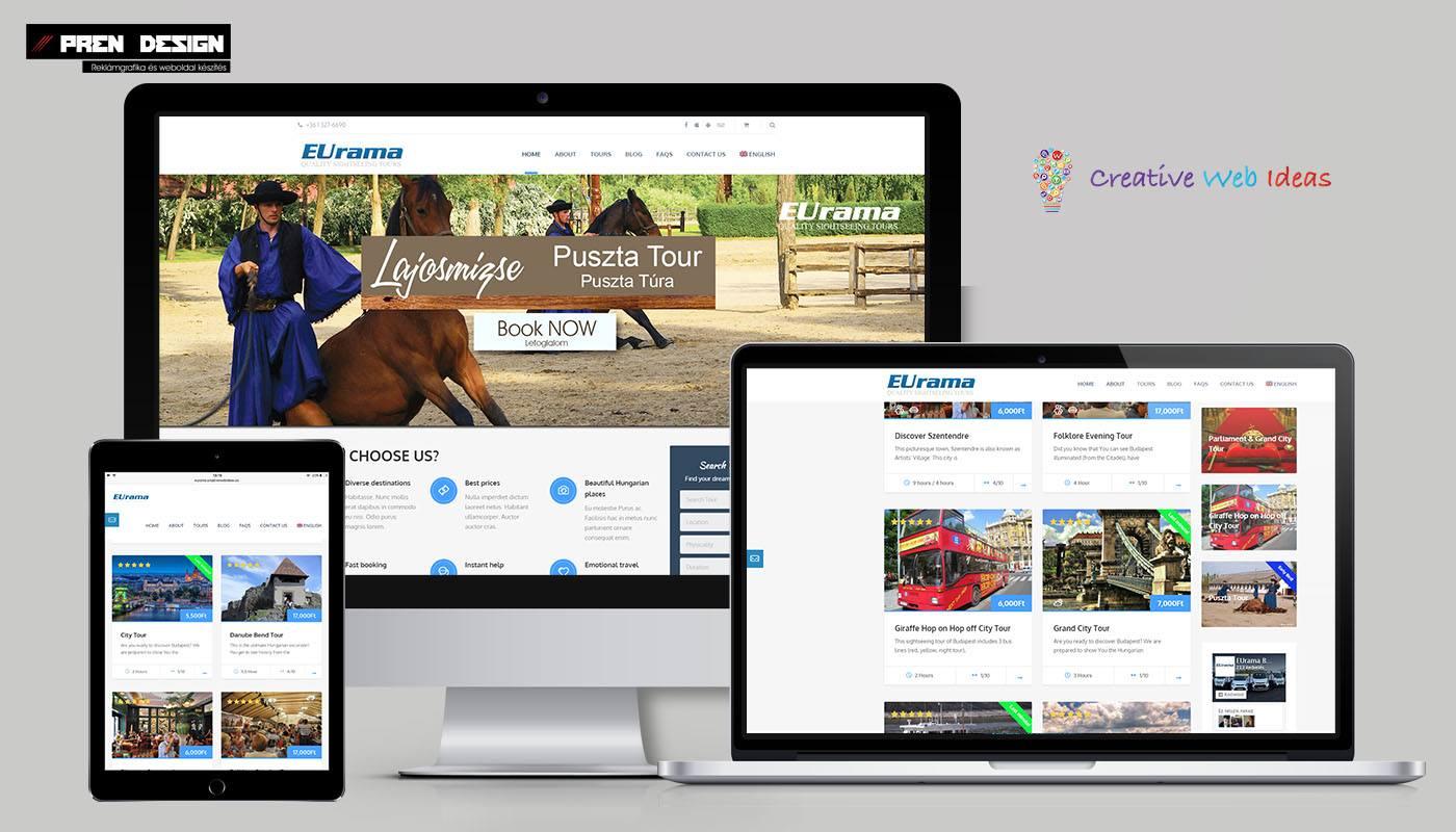 Weboldal készítés utazási iroda - weboldal design