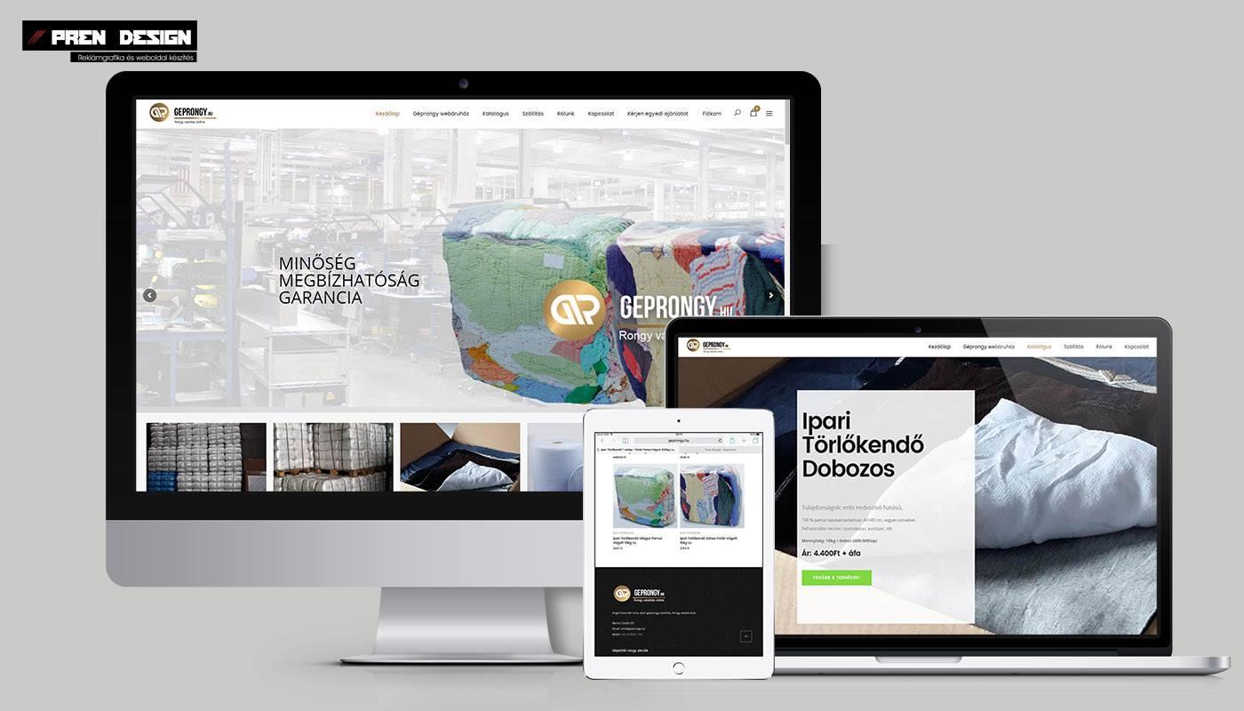 Webshop készítés Géprongy webáruház