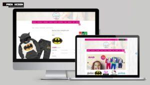 Webshop készítés - Gyerekruha és Babaruha webáruháznak