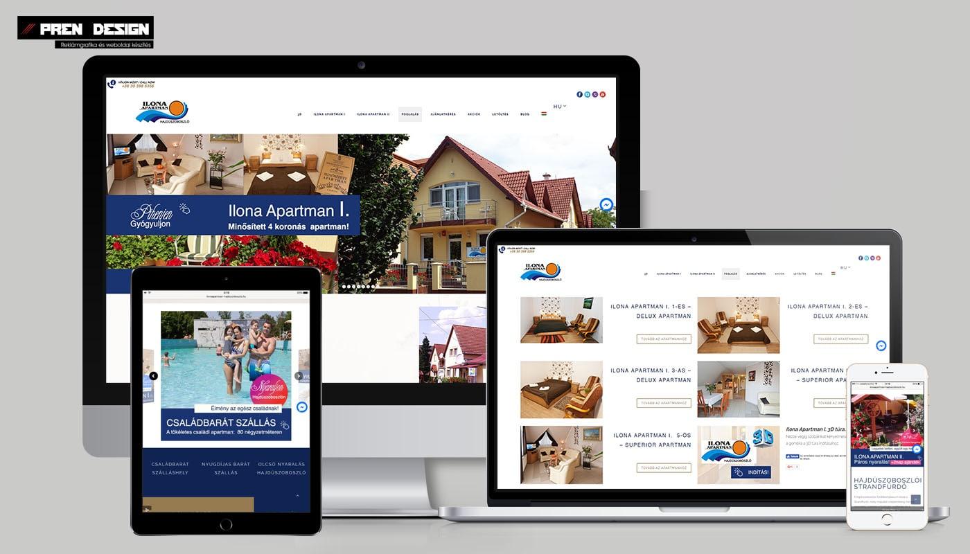 Vendégház,apartman,hotel weboldal készítés