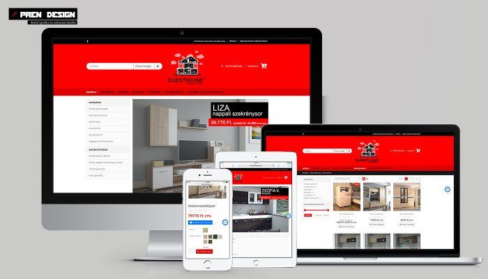 Bútor webáruház készítés