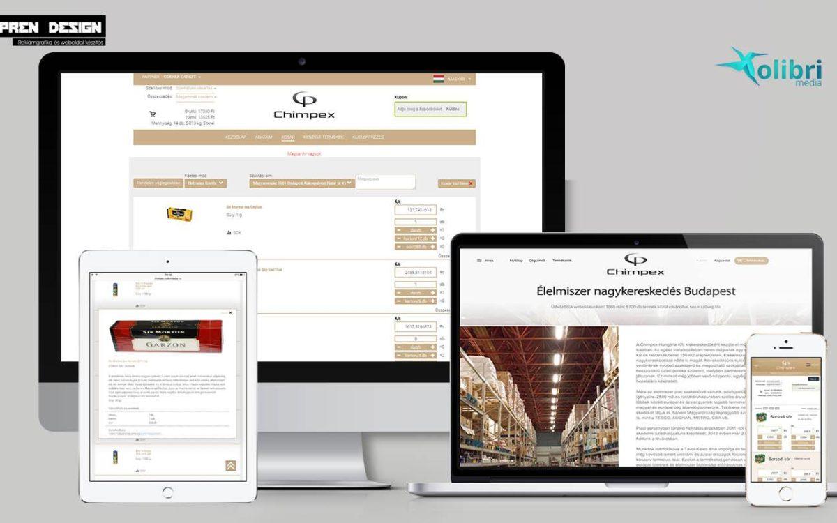 Élelmiszer nagyker webáruház készítés