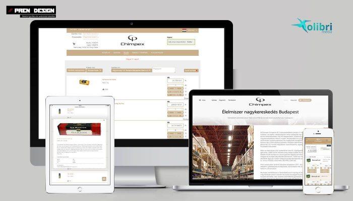 Élelmiszer nagykereskedés webáruház készítés