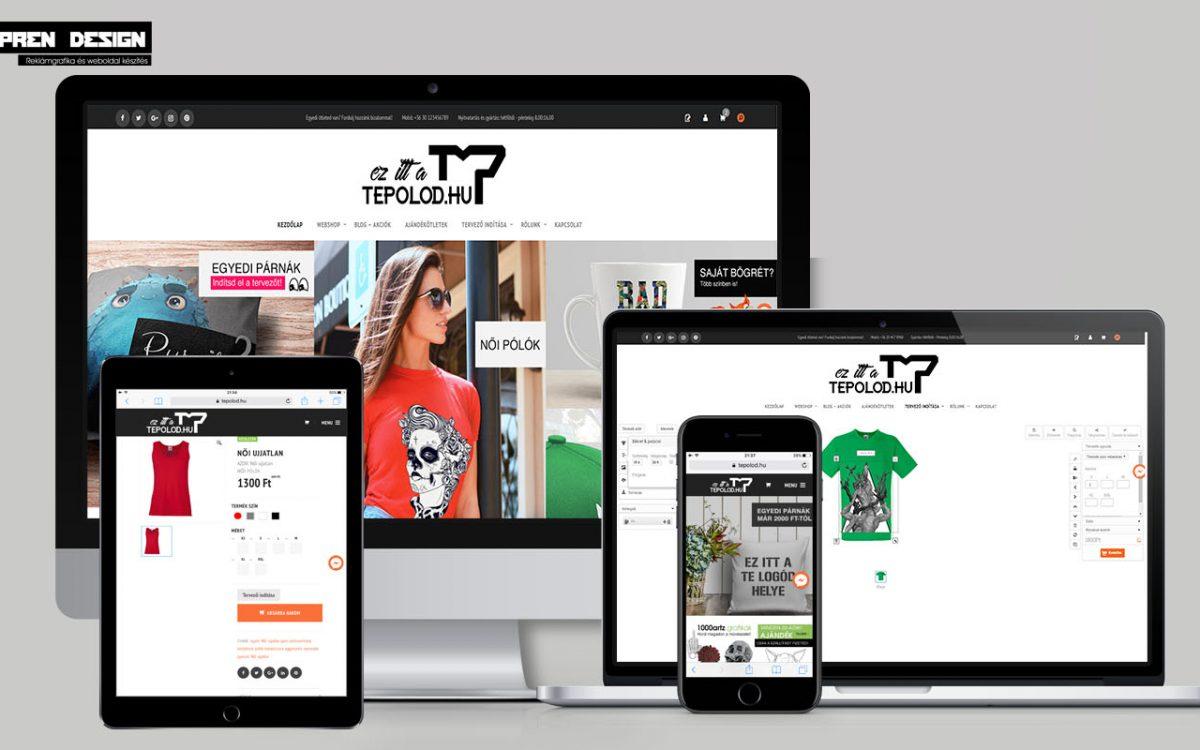 Online pólótervező rendszerek - weboldal készítés