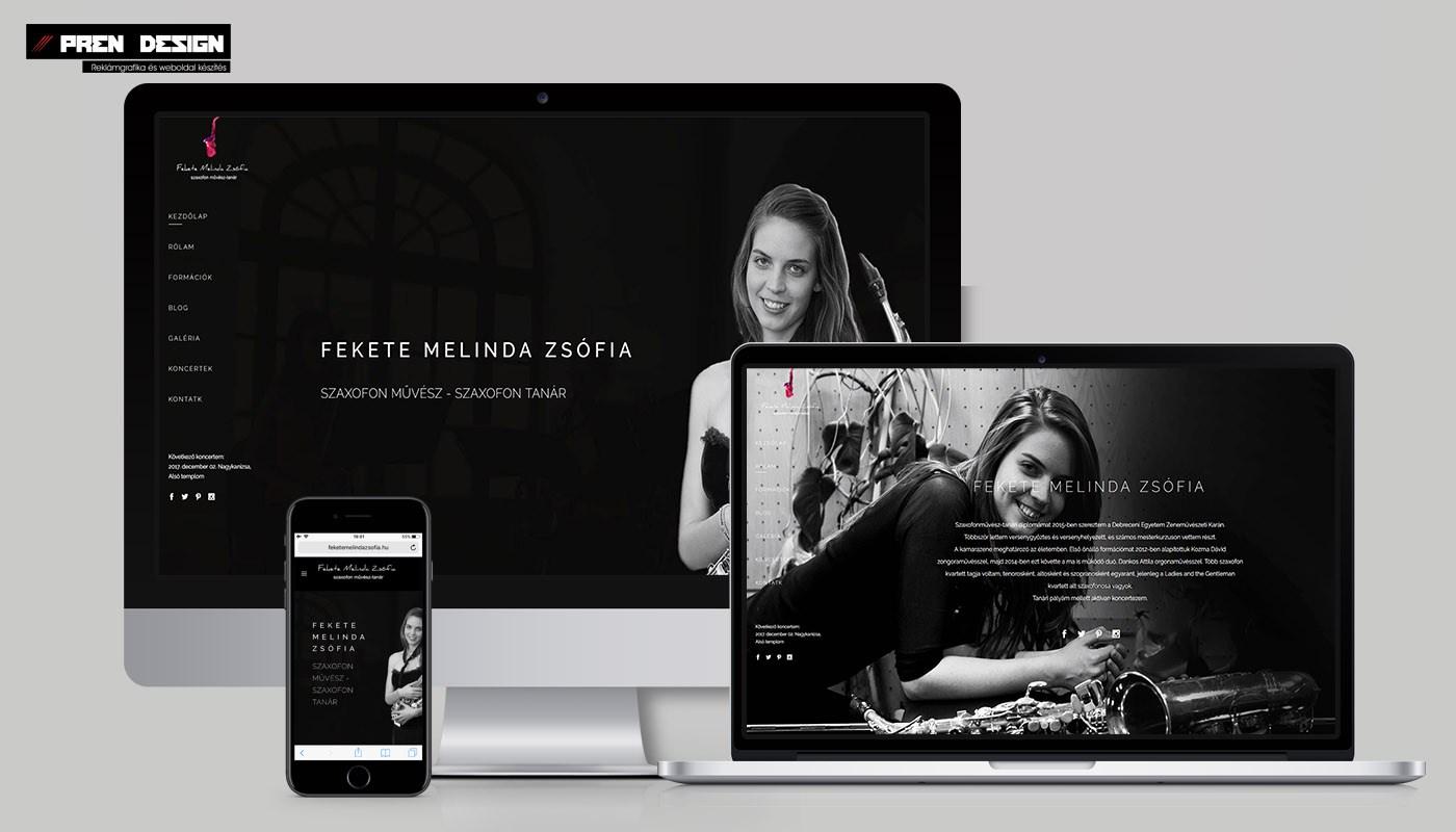 Egyszerű weboldal készítés letisztult webdesign