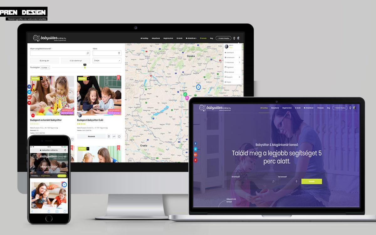 Hirdetési weboldal rendszer készítés