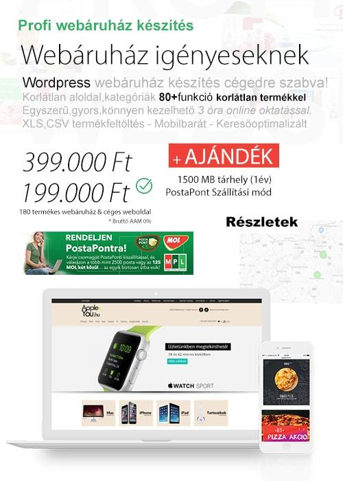 Webshop készítés - webáruház készítők