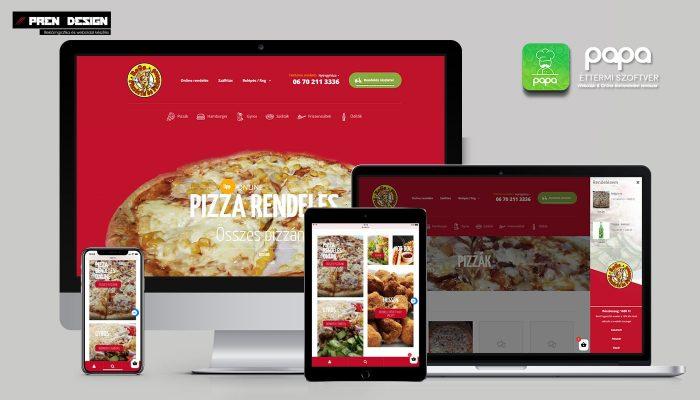 Pizzéria webdesign készítés