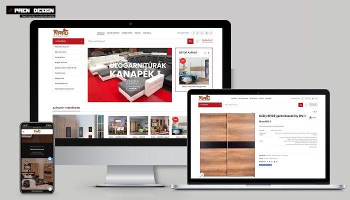 Bútorbolt céges weboldal készítés webdesign
