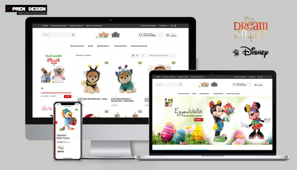 Webáruház készítés Biatorbágy - Játék nagykereskedés