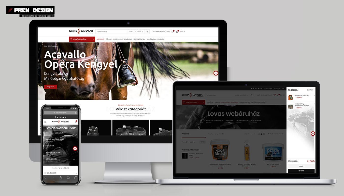 Lovas webáruház készítés – Webshop felújítás