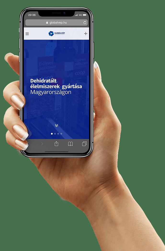 Mobilbarát webáruház tervezés