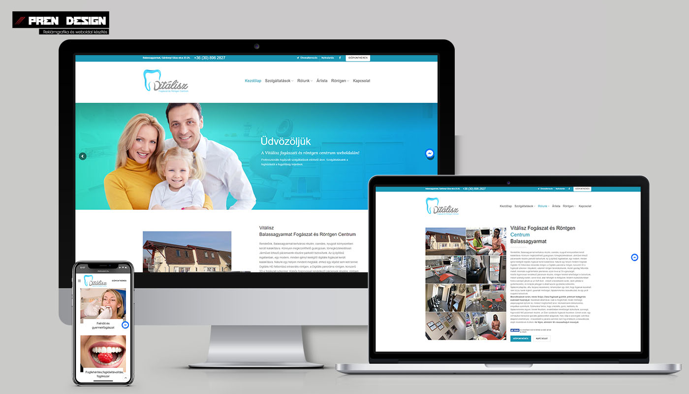 Weboldal készítés – Céges weblap