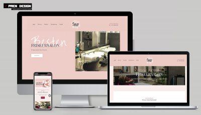 Dortmund weboldal késztés – Fodrász szalon webdesign