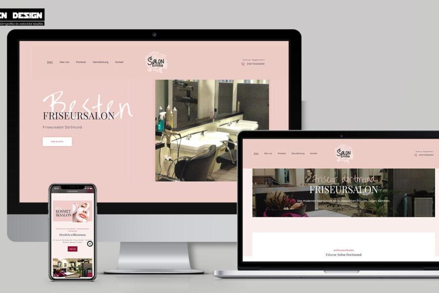 Dortmund weboldal készítés – Fodrász szalon webdesign