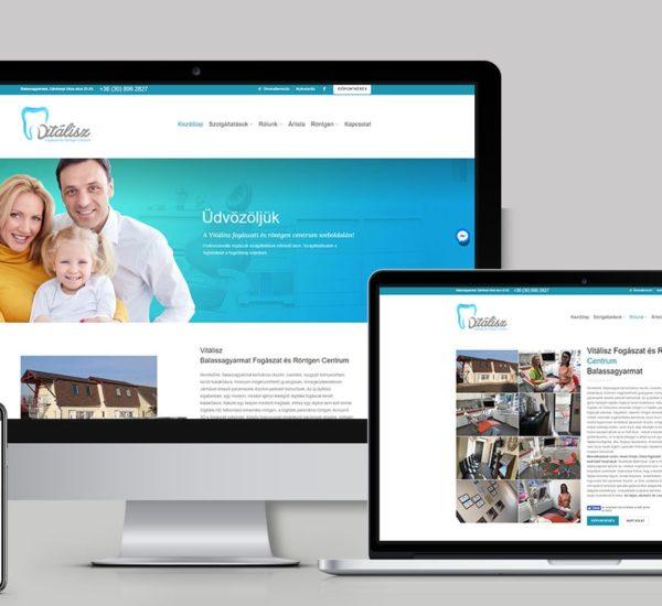 Weblap készítés fogászat számára