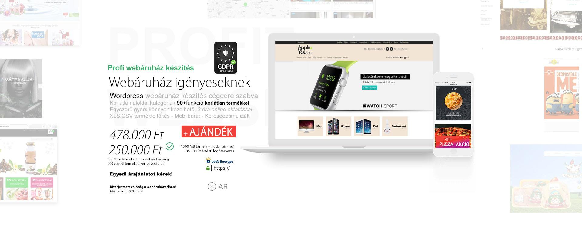Webáruház készítés árak 2020 - Webshop készítés - Pren Design