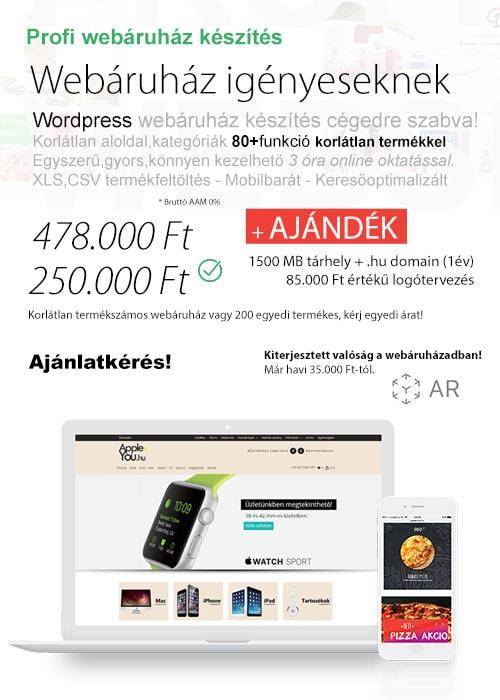 Webáruház készítés - Weboldal készítés