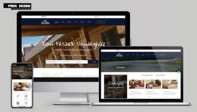Szállás Weboldal Készítés egyedi webdesign