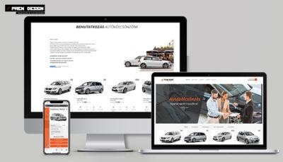 Weboldal készítés Autókölcsönző – Online autóbérlő rendszer