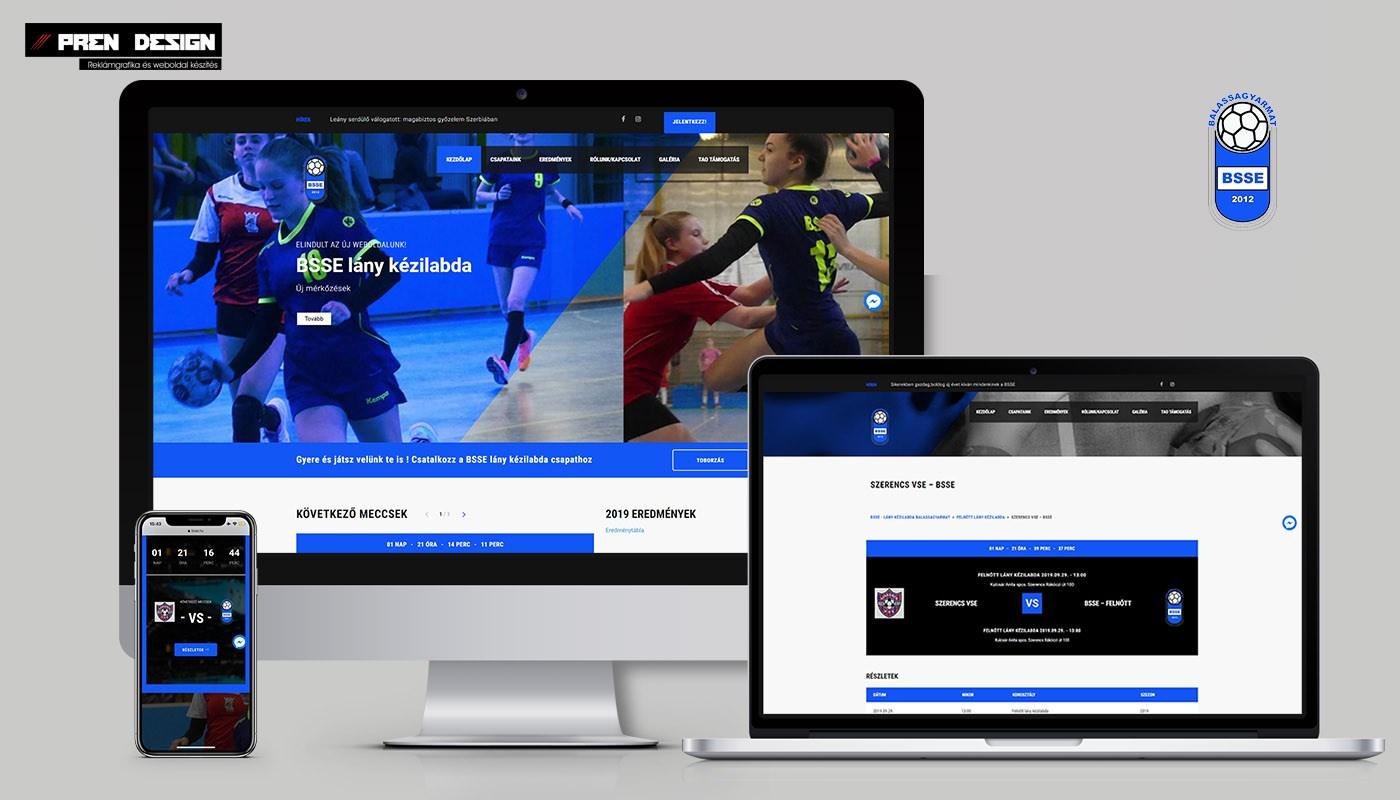 Sportegyesület weboldal készítés - Pályázat weboldal korszerűsítésre