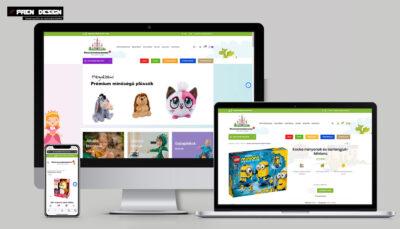 Webáruház készítés Mese játék disney plüss webárház