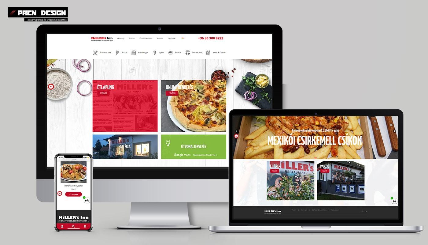 Gyorsétterem és Panzió weboldal készítés