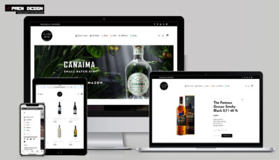 Webáruház készítés Győr ital házhozszállítás Netbár