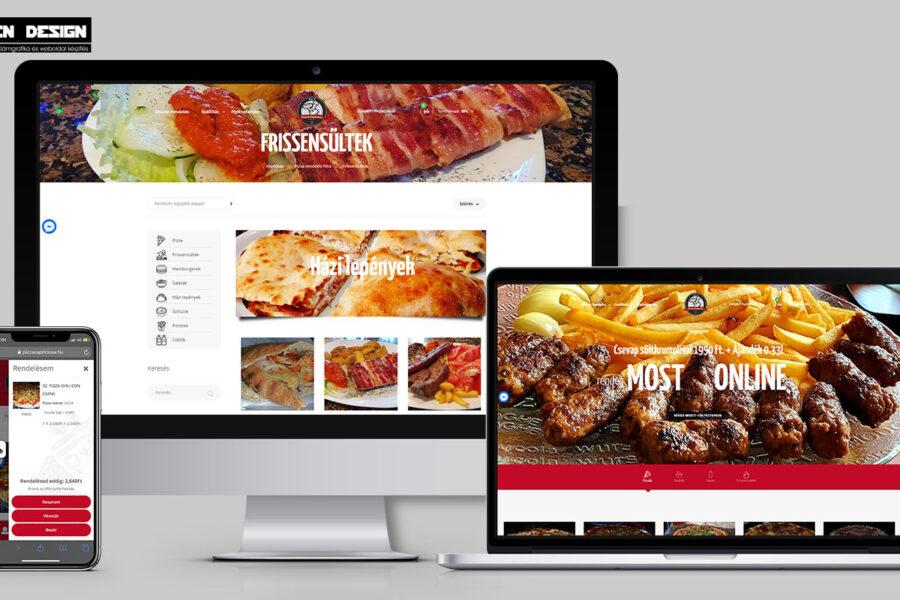 Pécs weboldal készítés – online ételrendeléssel