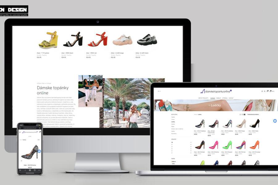 Webáruház készítés Szlovákia – Cipő webáruház