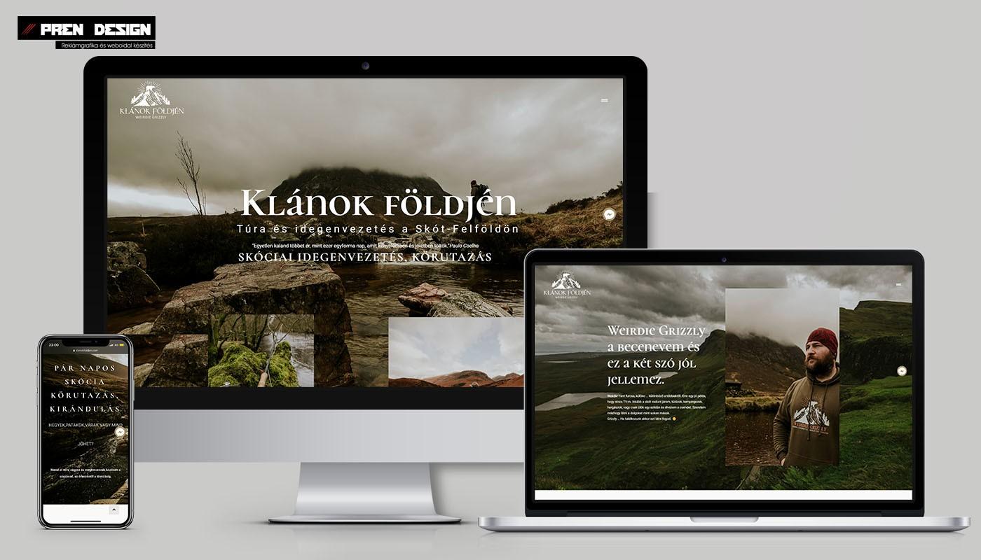 Weblap készítés – Edinburgh – Skócia idegenvezető weboldal