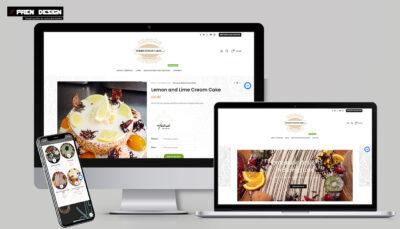 Cukrászda weboldal készítés online rendeléssel