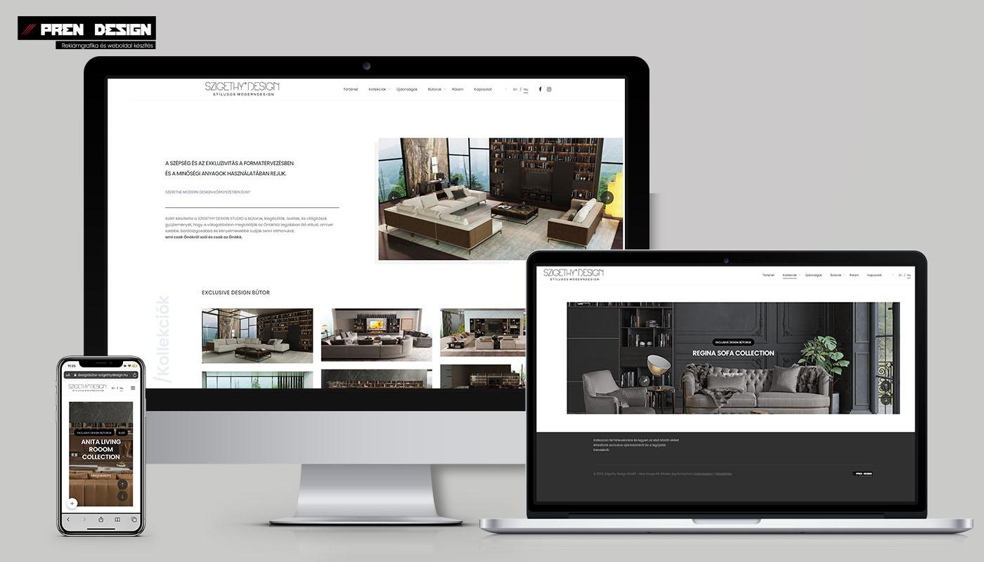 Prémium weboldal készítés – Design bútorbolt és bútorstúdió